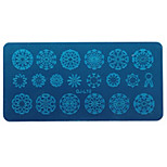 cheap -Nail Tools Printing Template Blue Film Printing Plate / Geometric Lace Animal Flowers Pattern