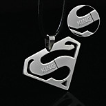 cheap -Europe and the United States selling simple line cutting titanium necklace pendant and Superman logo does not fade