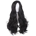 Synthetic Cosplay Wigs Diana Black Curly Long Wig for Women Costume Wig Capless Wig