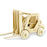 cheap -3D Puzzles Jigsaw Puzzle Wood Model Dinosaur Plane / Aircraft Forklift 3D DIY Wooden Wood Classic Forklift Unisex Gift