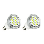2pcs 5W E14 Focos LED E14 / E12 16 leds SMD 5630 Luces LED Blanco 380lm 3000-3500/6000-6500K AC 85-265V