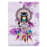cheap -Case For Apple iPad 10.5 iPad mini 4 Card Holder Wallet with Stand Back Cover Owl Dream Catcher Hard PU Leather for iPad Pro 10.5 (2017)