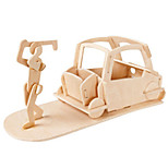 cheap -Muwanzi 3D Puzzles Jigsaw Puzzle Golf Toys Wood Model Plane / Aircraft Famous buildings Furniture Golf Architecture 3D DIY Wood Classic