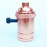cheap -E27 Rose Gold Lamp Holder Knob Switch High Quality Lighting Accessory