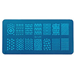 Недорогие -Инструменты рисования Шаблон шаблона для ногтей Повседневные металлический Мода Высокое качество