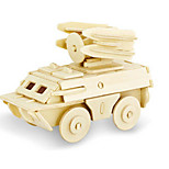 Недорогие -3D пазлы Пазлы Деревянные игрушки Динозавр Танк Летательный аппарат Колесница 3D Своими руками деревянный Дерево Классика Универсальные