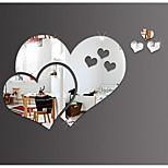 Недорогие -Зеркала Наклейки 3D наклейки Зеркало Декоративные наклейки на стены, пластик Винил Украшение дома Наклейка на стену Стена