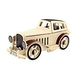 Недорогие -3D пазлы Деревянные пазлы Деревянные игрушки Летательный аппарат Автомобиль 3D Своими руками 3D Дерево Классика 6 лет и выше