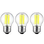 Недорогие -3шт 6W 560 lm E27 LED лампы накаливания G45 6 светодиоды COB Декоративная Тёплый белый Белый AC 220-240 V
