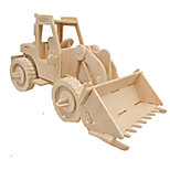cheap -3D Puzzles Jigsaw Puzzle Wood Model Car 3D Simulation DIY Wood Classic Construction Vehicle Unisex Gift