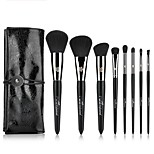 MSQ Professionelle 8 stcke Make-Up Pinsel Set Kupferhlse Powder Foundation Lidschatten Eyeliner Lippenpinsel-werkzeug Mit PU Fall