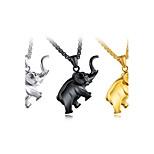 Муж. Ожерелья с подвесками В форме животных Слон Титановая сталь Мода По заказу покупателя Хип-хоп Классика Металлик Бижутерия Назначение