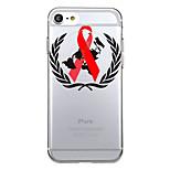 Для iphone 7plus чехол для крышки прозрачный узор задняя крышка сердце геометрический узор помогает красная лента мягкая tpu для iphone 7