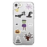 Для корпуса телефона 7plus прозрачный узор задняя крышка чехол плитка мультфильм Хэллоуин мягкий tpu для iphone 7 6splus 6plus 6 6s 5 5s
