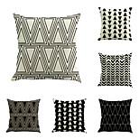 6 штук Хлопок/Лён геометрический Новинки Мода Геометрия Новое поступление Высокое качество Modern Ретро Неоклассицизм Cool