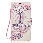 Case For Sony Xperia XZ XA1 Tree Pattern 3D PU Wallet Leather Card Holder with Hand Strap for Sony Xperia XA Ultra E5 XA