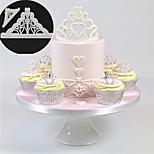 2pcs Crown Plastic Fondant Cutter Tiara Cake Mold Fondant Cupcake Clay Decorating Tools