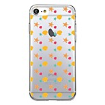 For iPhone 7Plus Case Cover Transparent Pattern Back Cover Case Tile Geometric Pattern Stars Soft TPU for iPhone 7 6sPlus 6plus 6s 6  5 5s SE