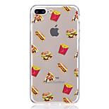 Case for apple iphone 7 plus 7 прозрачный узор задняя крышка пища мягкая tpu 6s плюс 6 плюс 6s 6 se 5s 5