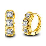 Муж. Жен. Серьги указан Сердце Классика Elegant Мода обожаемый Простой стиль Серебрянное покрытие Геометрической формы Бижутерия