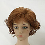 Woman Layered Curly Hair Short High Temperature Fiber Synthetic Shag Wig Black Brown 2 Colors Available