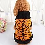 Собака Свитера Одежда для собак На каждый день Зебра Цвет-леопард