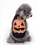 Кошка Собака Толстовка Одежда для собак Для вечеринки На каждый день Хэллоуин Рождество Тыква Черный