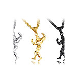 Муж. Ожерелья с подвесками Титановая сталь Мода По заказу покупателя Хип-хоп Классика Металлик Бижутерия Назначение Для вечеринок