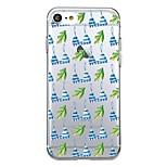 For iPhone 7Plus Case Cover Transparent Pattern Back Cover Case Tile Fruit Leaf Soft TPU for iPhone 7 6sPlus 6plus 6s 6  5 5s SE