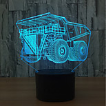 cheap -1set 3D Nightlight Touch 7-Color USB Touch Sensor Color-Changing