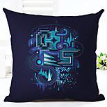 1 pcs Linen Pillow Case,Geometric Modern Modern/Contemporary
