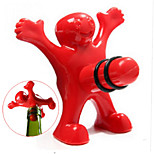 Unique Funny Happy Red Man Guy Wine Stopper Bottle Plastic Novelty Bar/home Tools Plug Perky Creative Gifts--1pcs