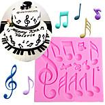 Music Notes Shape Silicone Mold For Fondant Cake Mold Bakware Tools Soap Mold Sugar Tool