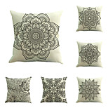 Set Of 6 Classical Bohemia Flowers Pillow Cover European Style Pillow Case Sofa Cushion Cover