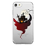 For 7Plus Phone Case Transparent Pattern Back Cover Case Halloween Soft TPU for iPhone 7  6sPlus  6Plus 6 6s 5 5s se