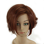 Woman Short Curly Brown Wig High Temperature Fiber Synthetic Hair Wig