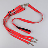 Leash Dog Double Leashes Safety Solid Nylon