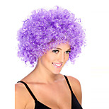 Fashion Purple Color Wig For Black Women Afro Curly Synthetic Wigs For Halloween