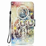 Case For Huawei P8 LITE P9 LITE Dream Catcher Pattern 3D PU Wallet Leather Card Holder with Hand Strap for Huawei P10 P10 LITE Y5 II P8 LITE 2017
