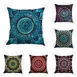 Set Of 6 Classic Bohemia Gorgeous Flowers Pillow Case Bohemia Design Printing Pillow Cover