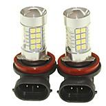 Sencart 2pcs H8 PGJ19-1 Fog Driving Light Headlight Bulbs Lamps(White/Red/Blue/Warm White) (DC/AC9-32V)