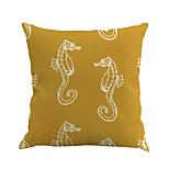 1 Pcs Vintage Yellow Sea Horse Pillow Cover Personality Mediterranean Pillow Case