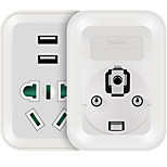 ETMAN AU to DE Plug Phone USB Charger Power Strips  1 Outlets 2 USB Ports 10A AC 220V-250V