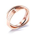 Жен. Классические кольца Цирконий Базовый дизайн Сексуальные платья Мода Pоскошные ювелирные изделия Классика Титановая сталь Круглый