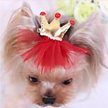 Собака Аксессуары для шерсти Одежда для собак На каждый день Тиары и короны Красный Синий Розовый