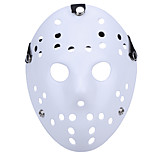 cheap -Halloween New Porous Jason Killer Mask White Thick 13th Horror Hockey Cosplay Mask Carnaval Masquerade Party Costume Prop