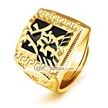 European and American black round brand ring female personality tide person food ring delicate temperamental gold jewelry