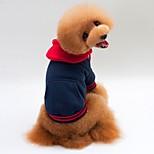 Кошка Собака Плащи Толстовки Одежда для собак На каждый день Сохраняет тепло Спорт Сплошной цвет Белый Серый Синий