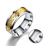 cheap -Europe and the United States foreign trade gold and silver piece rings titanium ring dragon dragon fashion
