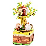 DIY KIT Music Box Toys Carousel Wood Pieces Kid Unisex Birthday Valentine's Day Gift